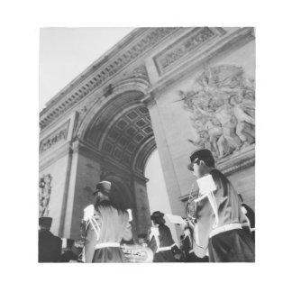 Europa frankrike, Paris. Militär ceremoni på Anteckningsblock