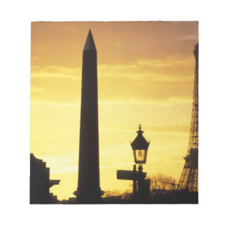 Europa frankrike, Paris, ställe de Concorde. Anteckningsblock