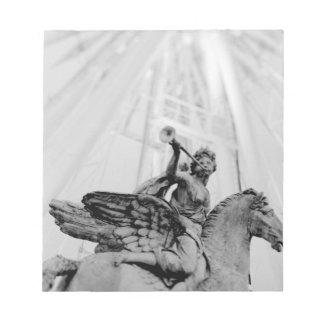 Europa frankrike, Paris. Staty och pariserhjul, 2 Anteckningsblock