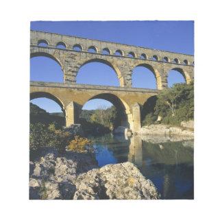 Europa frankrike, Pont du Gard. Pont du Gard, Anteckningsblock