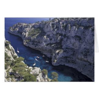 Europa frankrike, Provence, Calanques. Limestone Hälsningskort