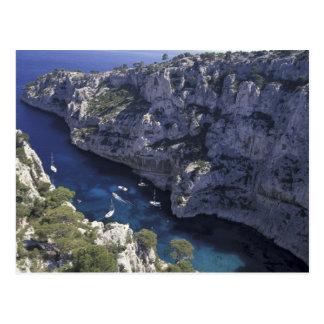 Europa frankrike, Provence, Calanques. Limestone Vykort