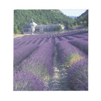 Europa frankrike, Provence. Lavander fält Anteckningsblock