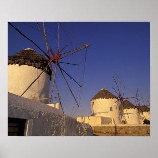 Europa Grekland, Cyclades öar, Mykonos, 2 Poster