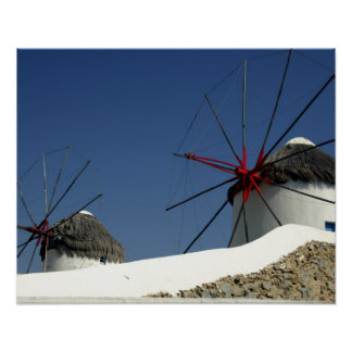 Europa Grekland, Mykonos. Poster
