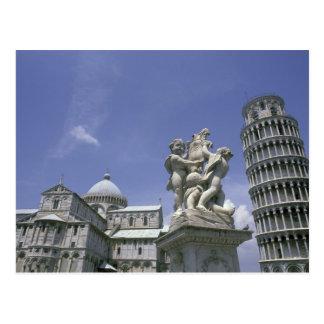 Europa italien, Pisa som lutar torn av Pisa Vykort