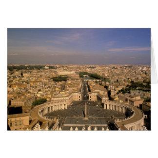 Europa italien, Rome, Vatikanstaten. Beskåda från Hälsningskort