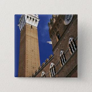 Europa italien, Tuscany, Siena. Torre del Standard Kanpp Fyrkantig 5.1 Cm