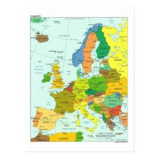 Europa karta vykort