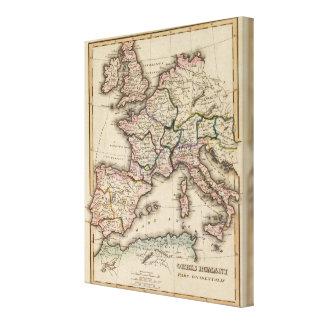Europa kartbokkarta canvastryck