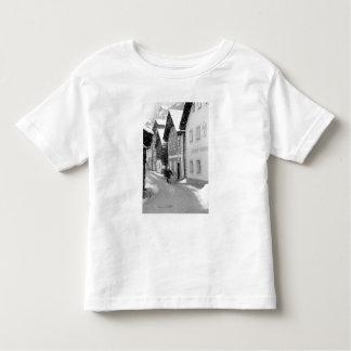 Europa Österrike, Hallstat. Snöig gata T-shirts