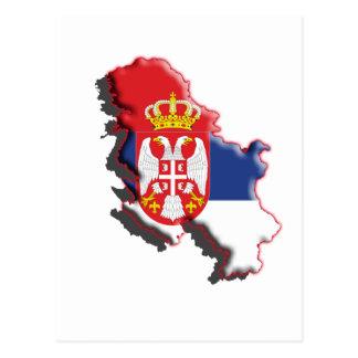Europa: Serbia w/coat av ärmar Vykort
