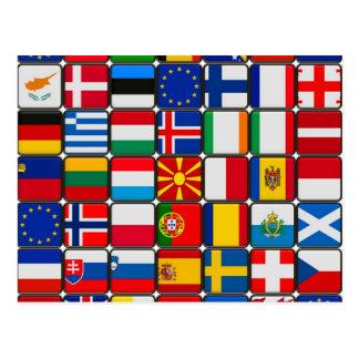 Europa sjunker världen och fred vykort
