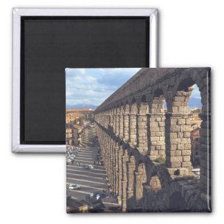 Europa Spanien, Segovia. Tända sent casts skuggar Magnet
