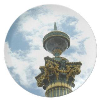 Europa vintage specificerad pelare tallrik