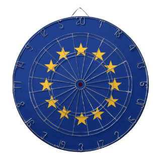 Europeanunion flagga piltavla