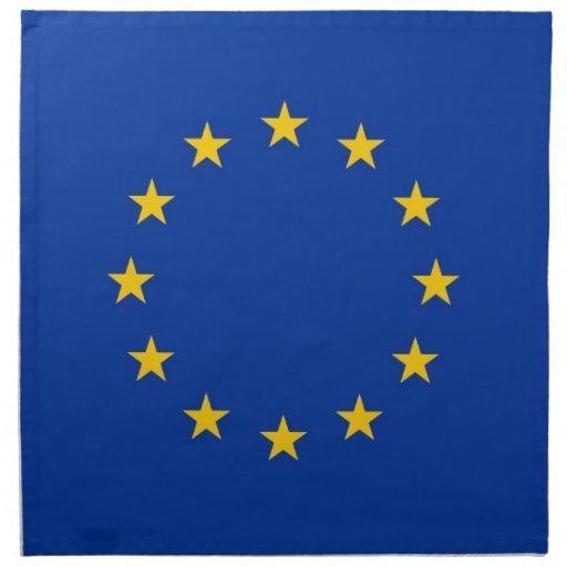 Europeiska unionflagga på den MoJo servetten Servett Med Tryck