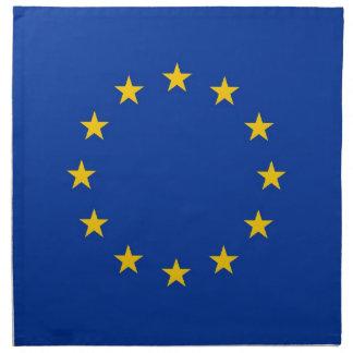 Europeiska unionflagga på den MoJo servetten Tygservett