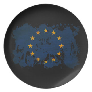 Europeiska unionflagga tallrik