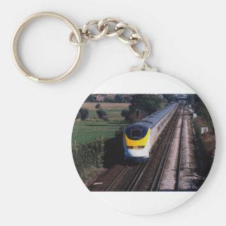 Eurostar passageraretåg rund nyckelring