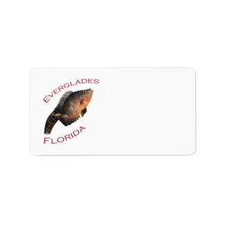 Everglades Florida Adressetikett
