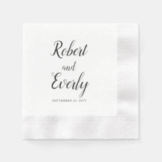 Everly bröllop pappersservett