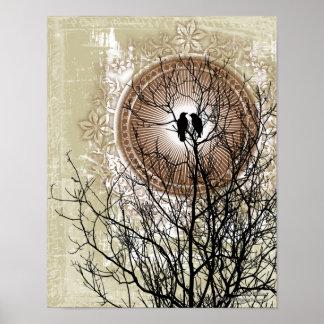 Evig gotisk konstaffisch för kärlek affisch