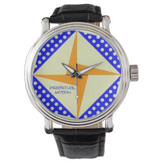 Eviga rörelseblått/orange armbandsur