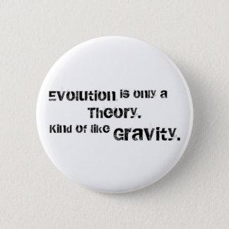 Evolution är endast en teori standard knapp rund 5.7 cm