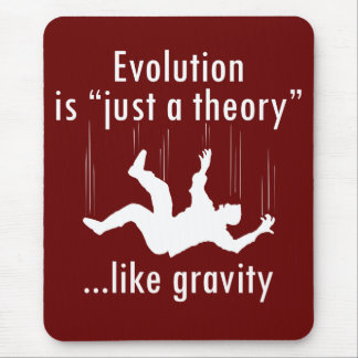 Evolution är precis en teorimousepad musmatta