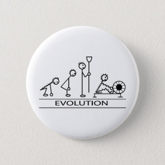 Evolution av manen med rodd standard knapp rund 5.7 cm