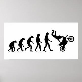 Evolution av motocrossen poster