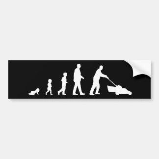Evolution av pappan - rolig bildekal