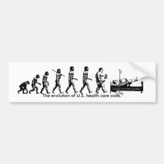 evolution av sjukvården kostar crosshatch, et… bildekal