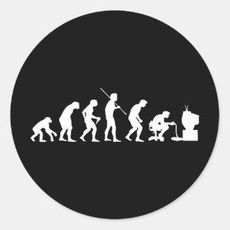 Evolution av videospel som spelar gameren runt klistermärke