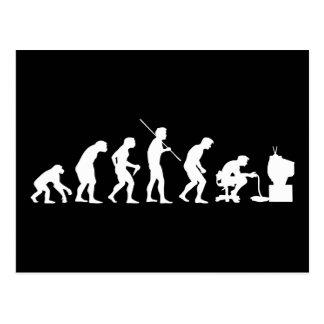Evolution av videospel som spelar gameren vykort
