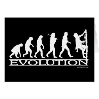 Evolution - klättring hälsningskort