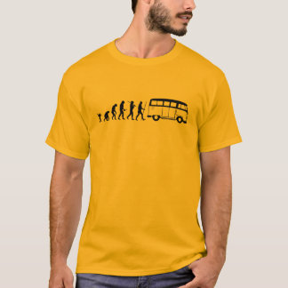 Evolution som bussar t-shirts