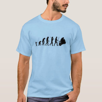 Evolution till motorcykeln t shirt