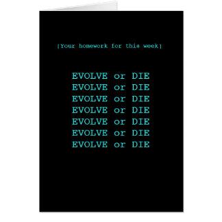 Evolve eller dö hälsningskort