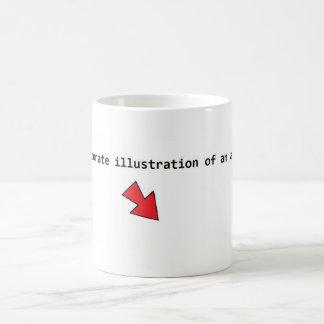 Exakt illustration av en atom. kaffemugg