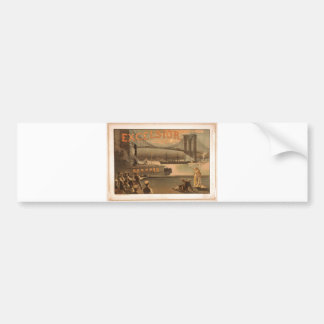 Excelsior Brooklyn 1883 överbryggar New York City Bildekal