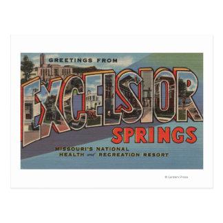 Excelsior Springs Missouri - stort brev Vykort
