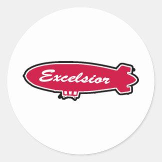 Excelsior utrustar runt klistermärke