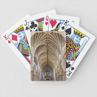 Exeter domkyrka som leker kort spelkort