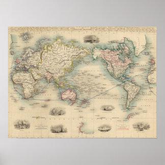 Exhausteds världskarta 18 poster