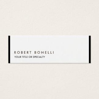 Exklusiv unik modern svart vit litet visitkort