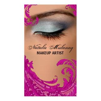Exotisk blom- visitkort för Makeupkonstnär