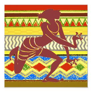 Exotisk egyptisk dansare fyrkantigt 13,3 cm inbjudningskort