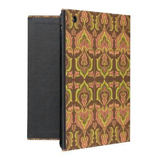 Exotisk gult för grönt för brunt för iPad cases